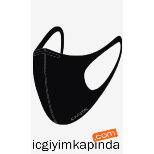 90021 Blackspade Yıkanabilir Kumaş Maske Siyah