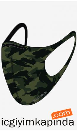 90021 Blackspade Yıkanabilir Kumaş Maske Y.Kamuflaj