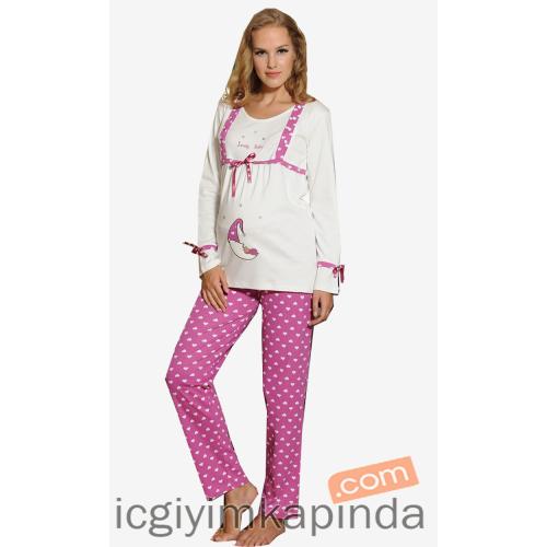 Feyza 1603 Lohusa Pijama Takımı