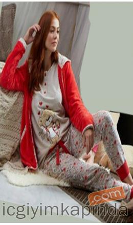 Feyza 3168 3'lü Pijama Takımı