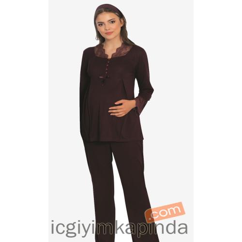 Mecit 5101 Lohusa Sabahlıklı Pijama Takımı